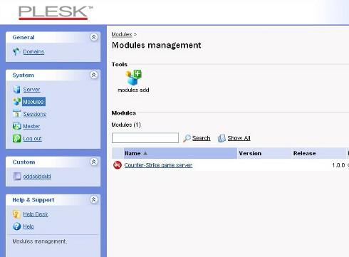 Plesk-modules